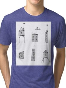 A Collection of Buildings Tri-blend T-Shirt