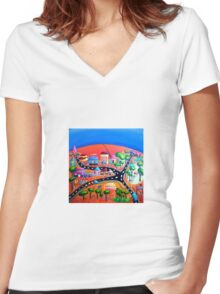 Silverton, NSW, Outback Australia Women's Fitted V-Neck T-Shirt