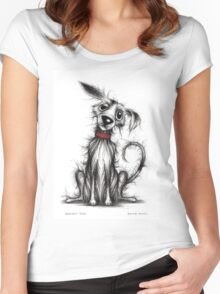 Barney dog Women's Fitted Scoop T-Shirt