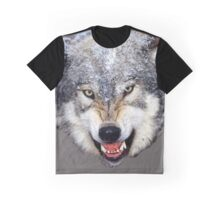 Snarling Wolf Graphic T-Shirt