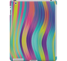 trippy colorful waves - abstract design iPad Case/Skin