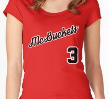 McBuckets Throwback Women's Fitted Scoop T-Shirt
