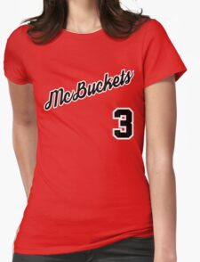 McBuckets Throwback Womens Fitted T-Shirt