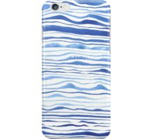 blue lines in watercolor iPhone Case/Skin