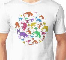 Rainbow Foxes Unisex T-Shirt