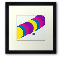 The Happy Gumball Collection - Insane White Framed Print