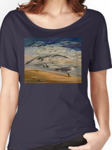 Seagulls on the beach Women's Relaxed Fit T-Shirt