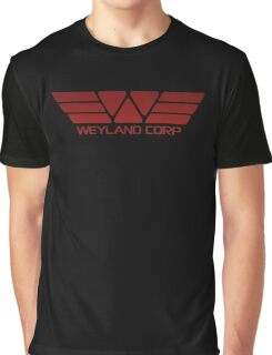 Weyland Corp Alien - Logo - Red Graphic T-Shirt
