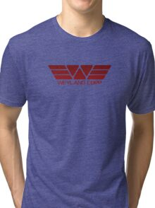 Weyland Corp Alien - Logo - Red Tri-blend T-Shirt