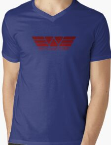 Weyland Corp Alien - Logo - Red Mens V-Neck T-Shirt