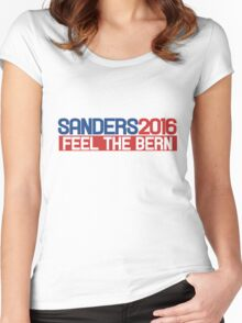sanders 2016 feel the bern Women's Fitted Scoop T-Shirt