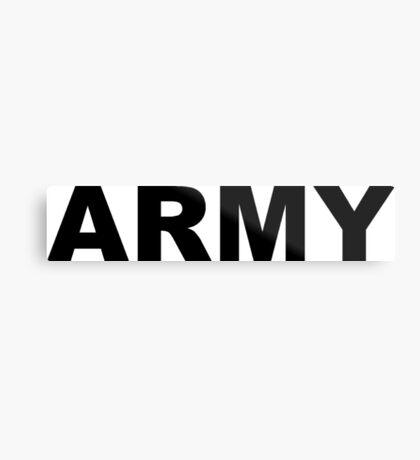 Army Metal Print