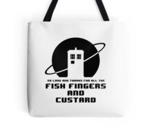 Fish Fingers and Custard Tote Bag