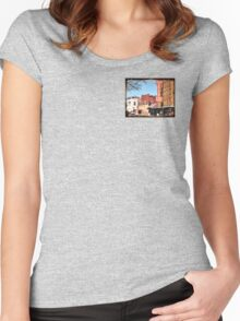 """""""That Small Town Feel""""... prints and products Women's Fitted Scoop T-Shirt"""