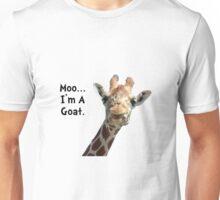 Moo Giraffe Goat Unisex T-Shirt