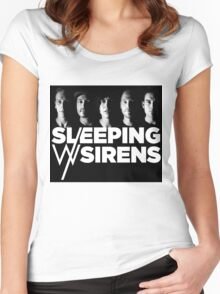 Sleeping With Sirens Women's Fitted Scoop T-Shirt
