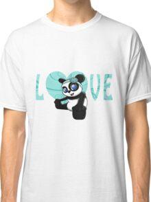 Happy Panda Floral Classic T-Shirt