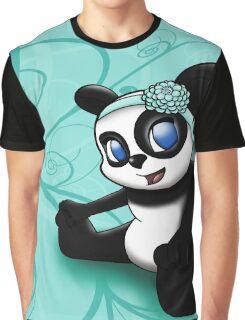 Happy Panda Floral Graphic T-Shirt