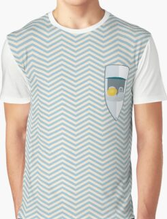 Zig-zag Summer Boat on Waves Pattern Graphic T-shirt Graphic T-Shirt