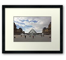 People In Town - Louvre Pyramid Paris Framed Print