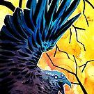 Raven god by bendrawslife