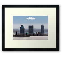 People In Town - Montreal's Mont Royal Framed Print