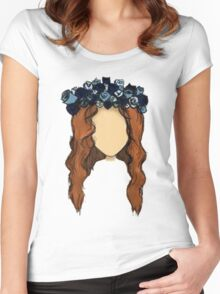 LANA DEL REY DRAWING Women's Fitted Scoop T-Shirt