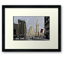 People In Town - New York's Madison Square Park Framed Print