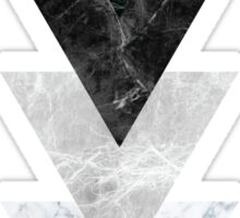 Marble Triangles Sticker