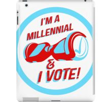 I'm a Millennial And I Vote iPad Case/Skin