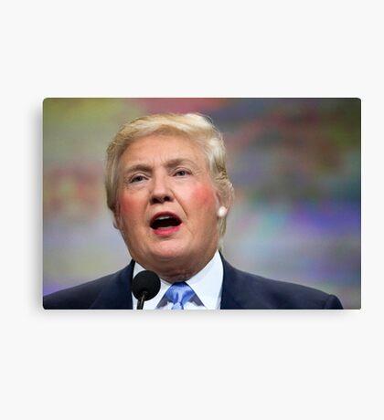Funny Donald Clinton Face Morph Canvas Print