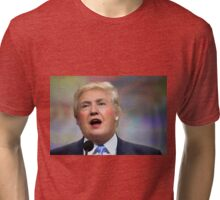 Funny Donald Clinton Face Morph Tri-blend T-Shirt