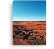 Red Barrren Soil in Wild National Park Landscape (Chapada dos Veadeiros, Brazil) Canvas Print