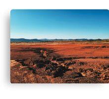 Red Barrren Soil in Beautiful Wild Landscape (Chapada dos Veadeiros, Brazil) Canvas Print