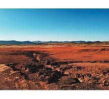 Red Barrren Soil in Beautiful Wild Landscape (Chapada dos Veadeiros, Brazil) Photographic Print