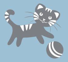 Funny kitten pattern One Piece - Short Sleeve