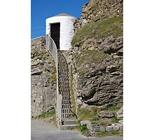 The Lower Pilots Lookout at Portreath Photographic Print