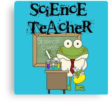 Frog Science Laboratory Science Teacher Canvas Print