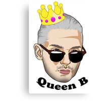 Queen B - Black Text Canvas Print
