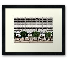 People In Town - Tunis' Bourgiba avenue Framed Print