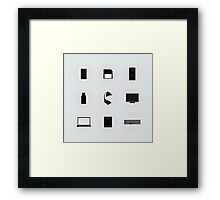 computer icons on the background,vector illustration Framed Print
