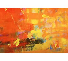 warm abstract painting Photographic Print