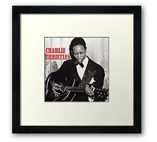 CHARLIE CHRISTIAN - Jazz Guitar Framed Print
