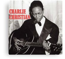 CHARLIE CHRISTIAN - Jazz Guitar Canvas Print