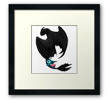 Toothless and Stitch Framed Print