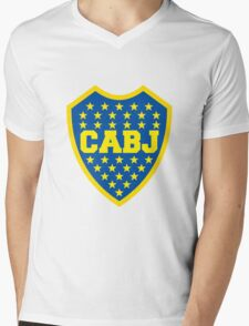 Boca Juniors Mens V-Neck T-Shirt