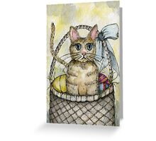 Kitten No.3 Easter Watercolor  Greeting Card