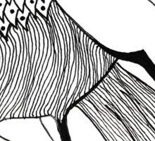 black and white bird Sticker