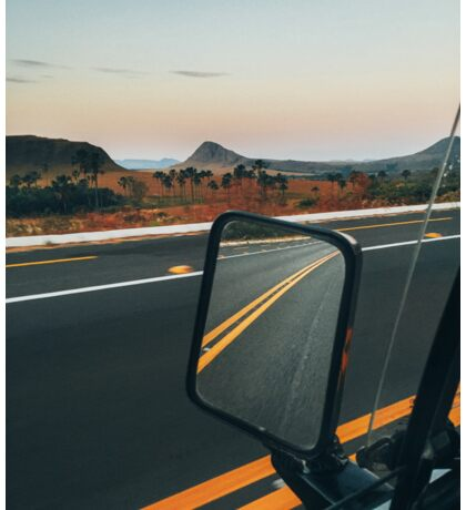 Driving Through Stunning National Park Landscape (Chapada dos Veadeiros, Brazil) Sticker