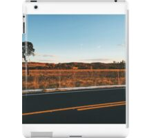 Lonely Tree in Beautiful Landscape at Sunset iPad Case/Skin